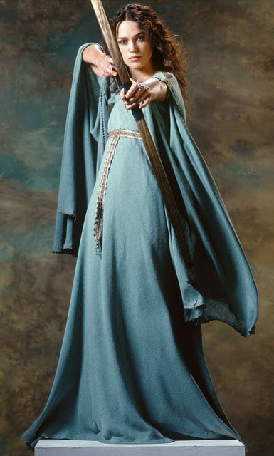 "I really like this flowy dress Keira wears as Guinevere in 2004's ""King Arthur"""