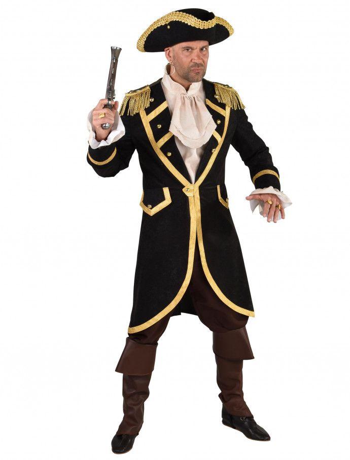 Kostüm Piraten GehrockPiraten Piraten HerrenM für in schwarzhochwertiger Mantel uPTOkXZi