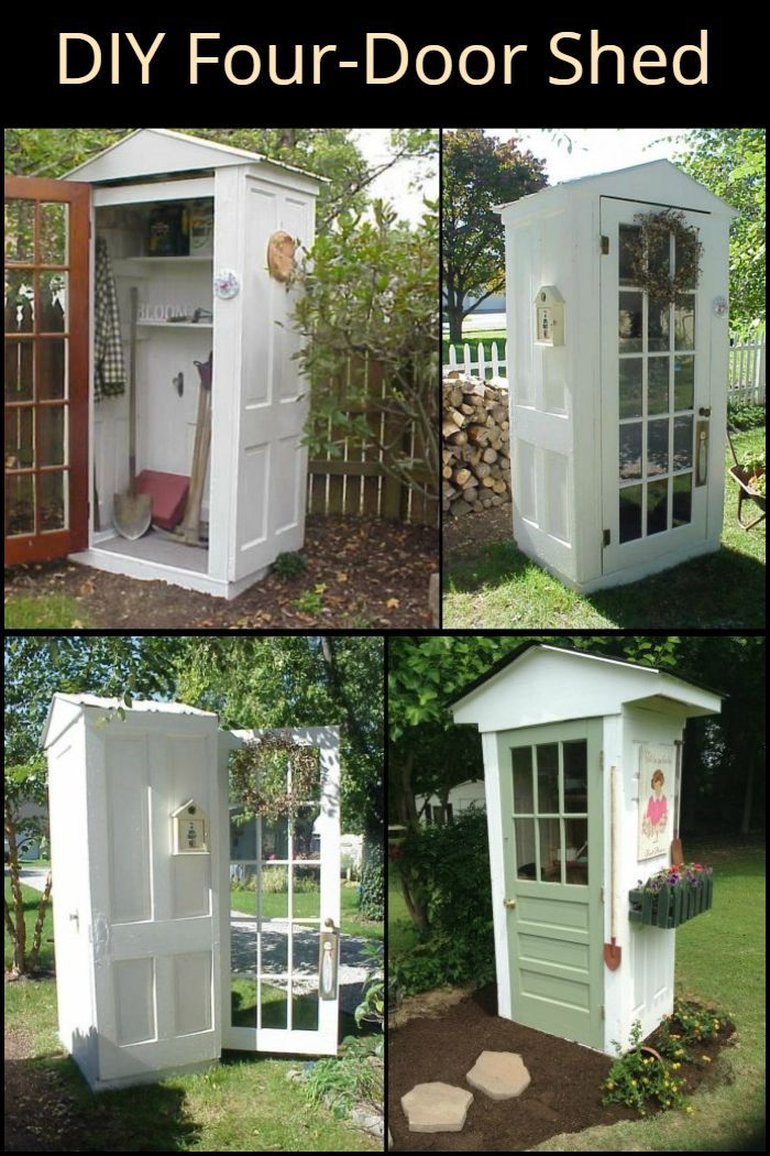 DIY Four-Door Shed – House ideas