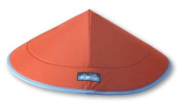 KAVU Chillba-Rust-Wow! Now that's a sun hat!  A must have for any river trip or hot summer day.... Constructed of DWR nylon, closed cell foam (won't sink), and a KAVU webbing-secure head adjustment to hold it on tight. One size fits most of you.  You'll only laugh until you try one out.