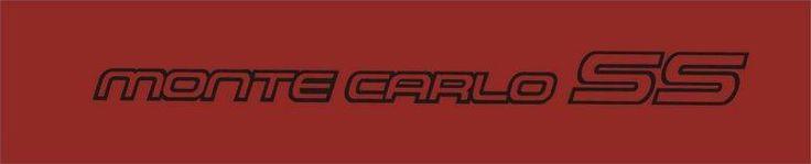 Chevy Monte Carlo SS Door Decal Set | GraphicsPlus123