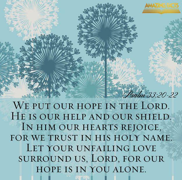 Psalms 33:20-22 - Scripture Picture