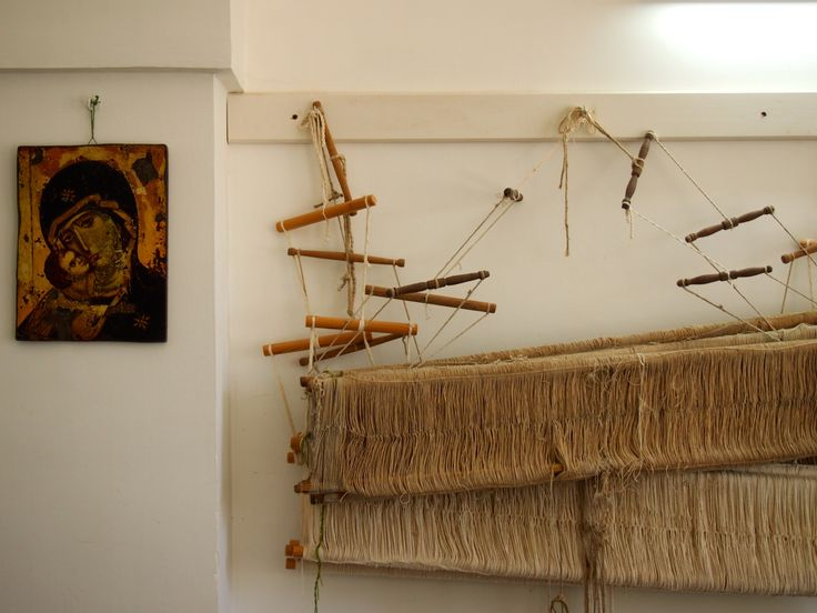 Heald frame of weaving loom - Italy Photo : Laure Kasiers