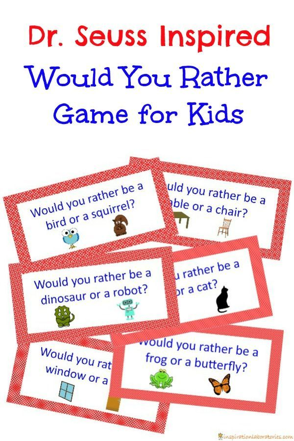 Dr. Seuss Inspired Would You Rather Game Kid Blogger
