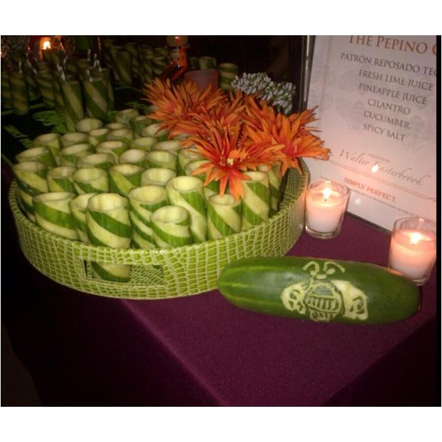 Patron cucumber cups