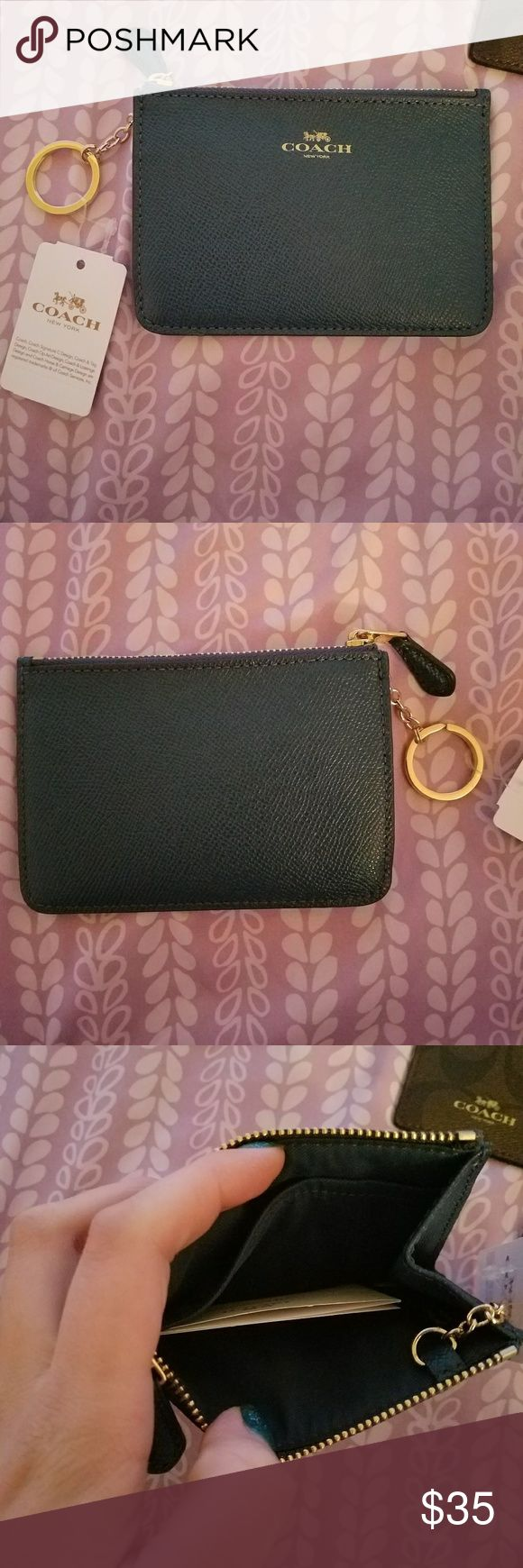 coach coin purse outlet 14iu  Coach Coin Purse 100% Authentic Coach Leather Blue coin purse BRAND NEW  FROM COACH