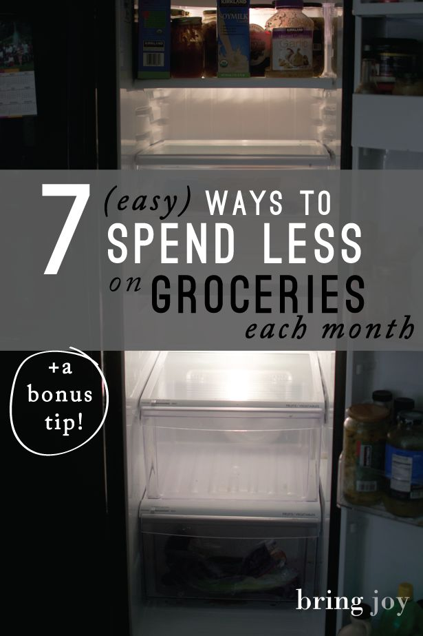 7 easy ways to save on natural, organic, gluten-free & vegan groceries each month // bring-joy.com #frugal #budgeting