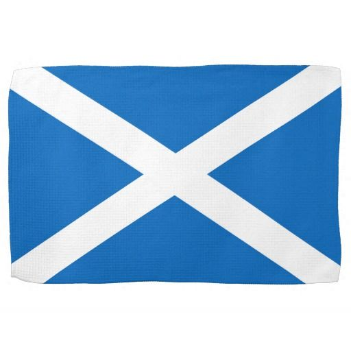 Scotland flag kitchen towel