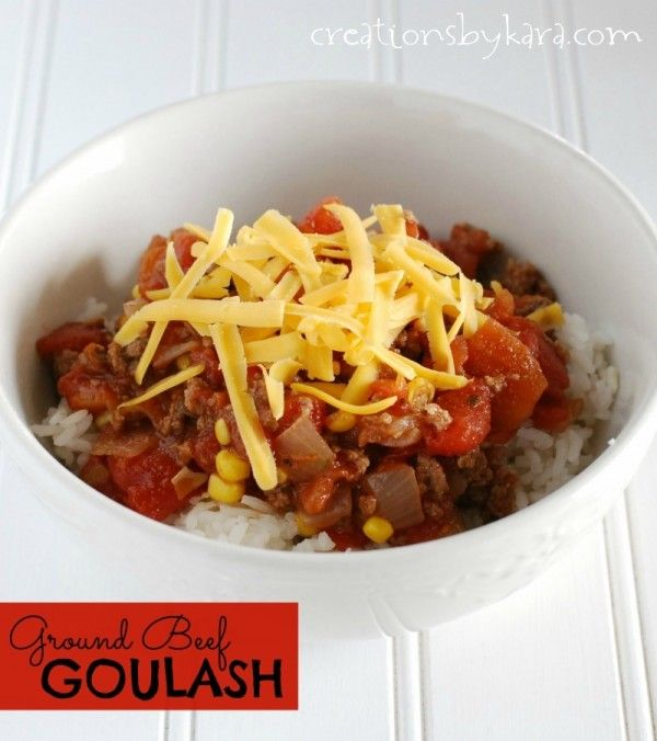 Meal Ideas For Ground Beef: 25+ Best Ideas About Ground Beef Goulash On Pinterest