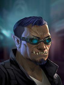 Male Ork Shadowrunners Portraits from Shadowrun Returns and Shadowrun Dragonfall.