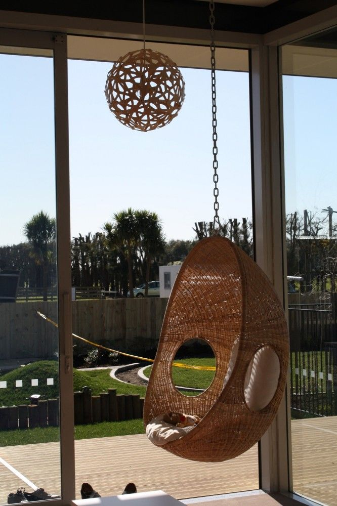 New Shoots Childrens Centre - swinging seat and David Trubridge light. A space for reflection/relaxation.