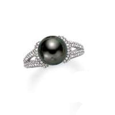 Mikimoto Black Southsea Pearl Ring