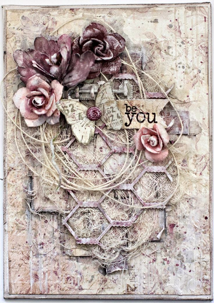 Be You mixed media canvas. Prima Butterfly paper collection (Stamping at…