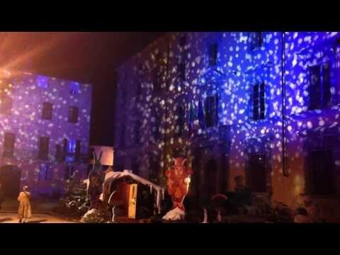 Lightshow in Lucca near the Presepio #lucca #video