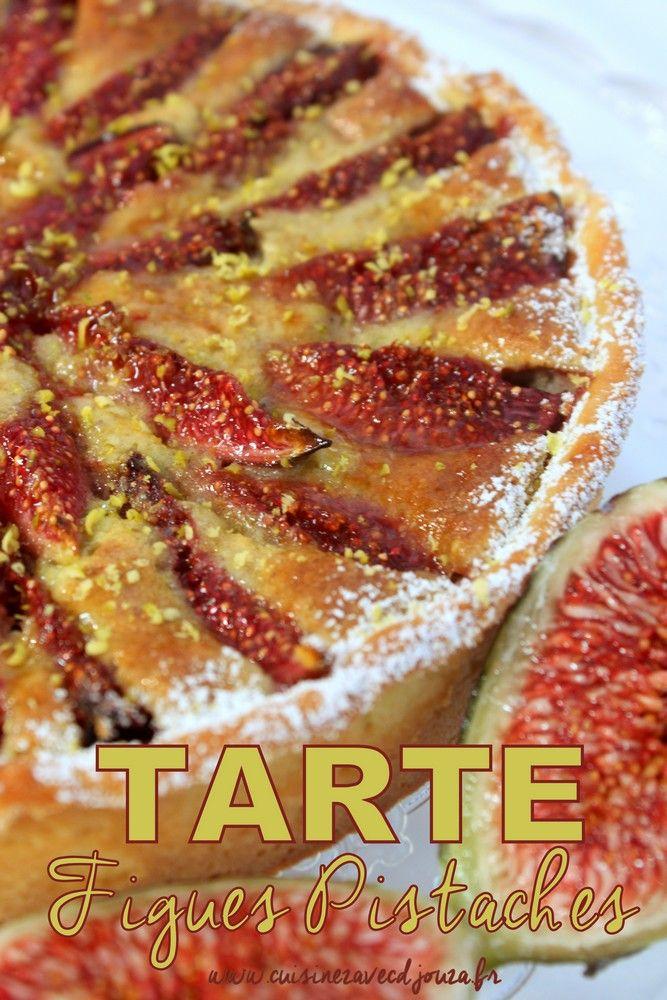 Une tarte aux figues fraiches et crème de pistache : la figue, un fruit d'automne que l'on retrouve en tarte avec une crème de pistaches très gourmande