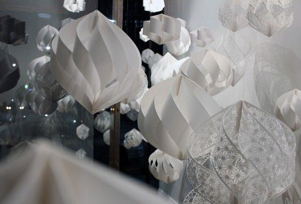 Structures en papier par Christine Kim