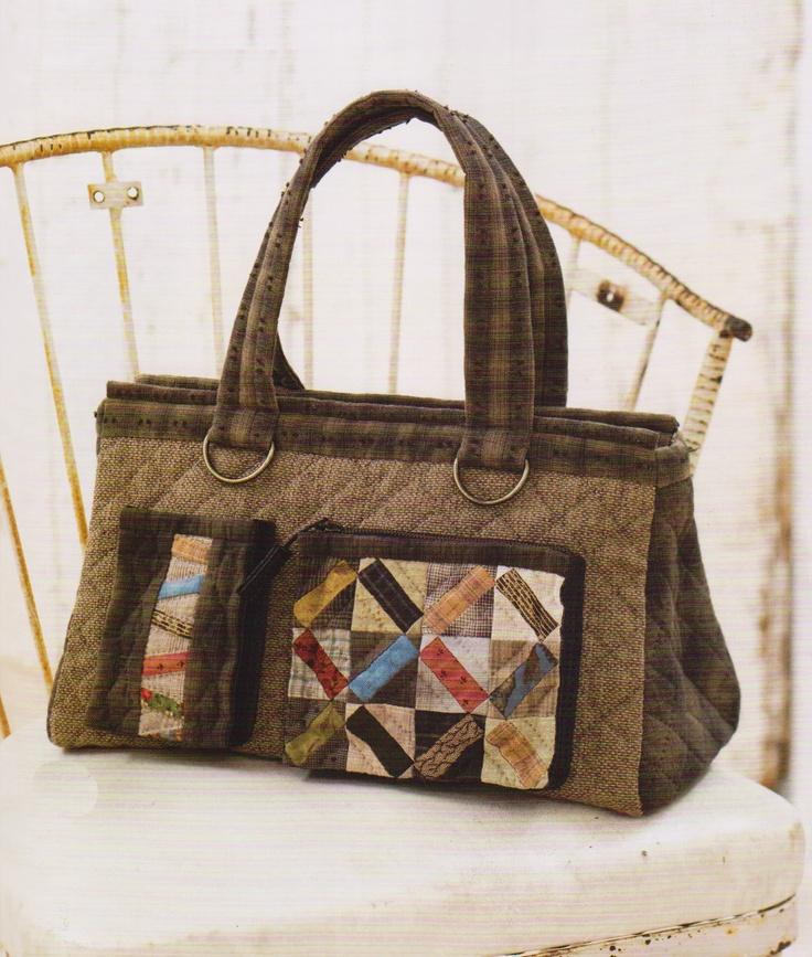 How to make tutorial travel Bag Handbag purse women sewing quliting quilt patchwork applique pdf pattern patterns ebook. $5.00, via Etsy.