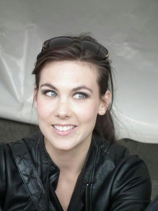 Elize Ryd of Amaranthe and Kamelot It's funny, I saw Elize last year at ProgPower 13, sitting in the lobby of my motel in her street clothes.  She looked amazing then.  I wish I had taken a picture, but she was with some people and I'm not a fanboy like that.