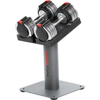 Weider Core SpaceSaver 100 Lb Adjustable Dumbbell Set