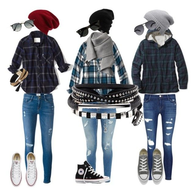 """""""Untitled #118"""" by melinda-elizabeth on Polyvore featuring Abercrombie & Fitch, L.L.Bean, Ted Baker, Frame Denim, J Brand, Converse, Halogen, The North Face, Ray-Ban and Acne Studios"""