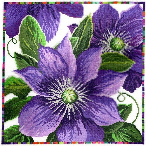 Clematis Cross Stitch Kit