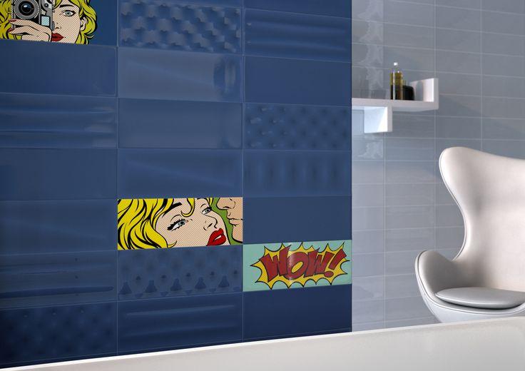 POP Tiles, bathroom modern ceramic double firing AM POP 1 Tile - maison sans vide sanitaire humidite