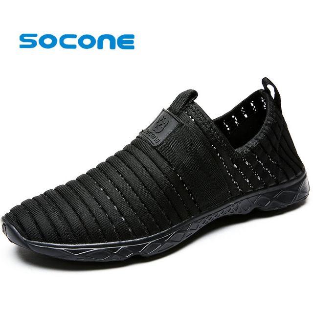 Socone más el tamaño 36-47 mujeres de los zapatos corrientes mujer resbalón-en los zapatos para caminar al aire libre de las señoras zapatillas zapatillas de entrenamiento deportivas