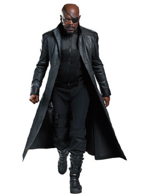 5ecb8a5f413 AVENGERS 4 Nick Fury Leather Coat Captain America The Winter Soldier Coat   SamuelLJackson showed off this long black coat in the  CaptainAmerica  ...