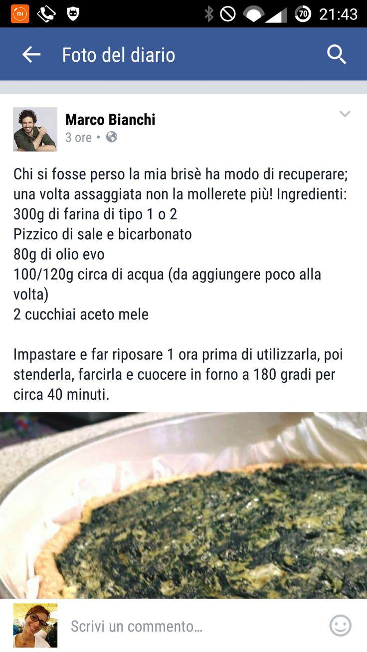 Pasta brisé di Marco Bianchi