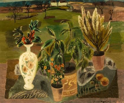 The fusion of still life with landscape was a dist...