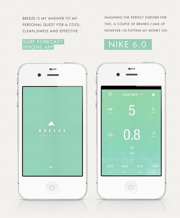 BREEZE : surf forecast iphone app