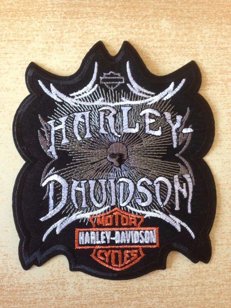 écusson harley davidson motor cycles motard biker 14x11 cm