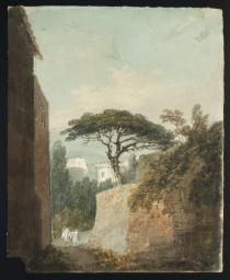 Joseph Mallord William Turner, Thomas Girtin 'Naples: View from Posilippo, with the Castle of St Elmo in the Distance', c.1796