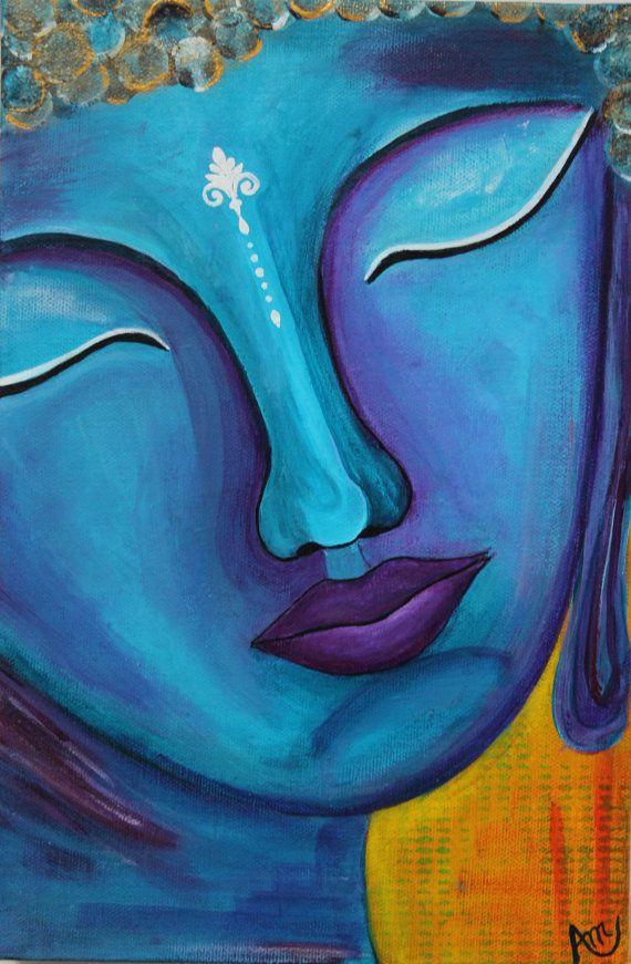 Buddha painting Buddha in handmade Buddha by AngelaMillarSoulArt, $125.00