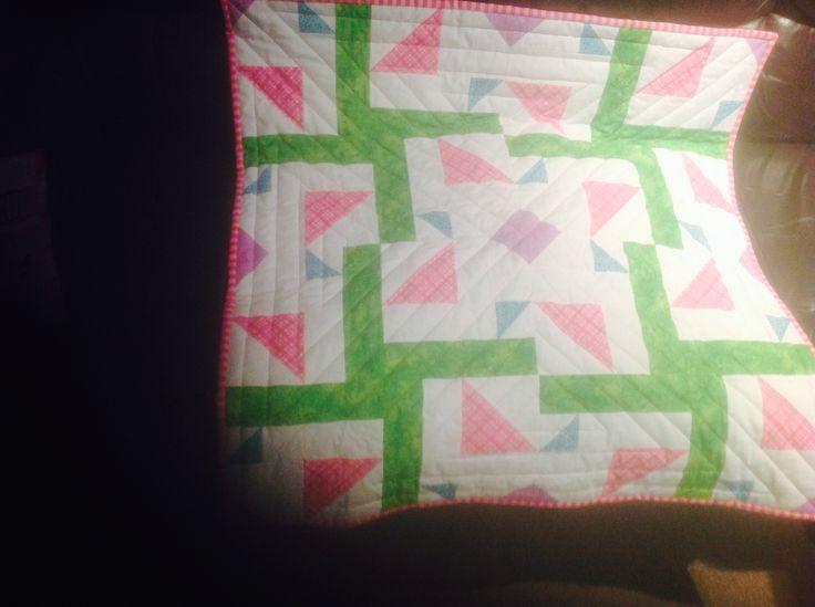 Kaleidoscope quilt for Ula