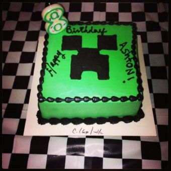 8th birthday minecraft creeper cake - 2015 Halloween party - Go! Minecraft Creeper! by daniel_galissot