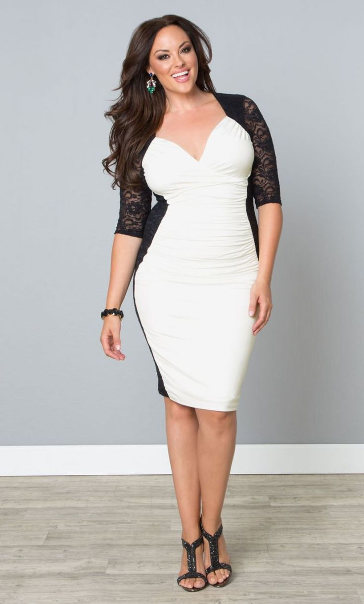 447 best Black and White Party images on Pinterest | Curvy fashion ...