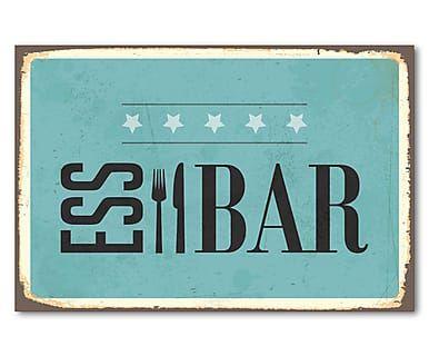 Metallschild Essbar, 45 x 30 cm
