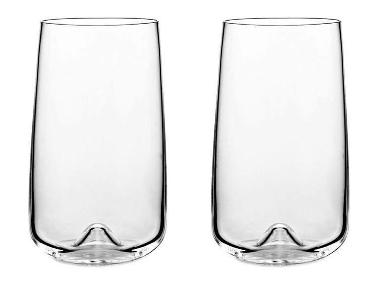 Set Of 2 Long Drink Glasses: Long Drink is the latest addition to the Drinks range.  It is an exclusive and functional glass with a simple Scandinavian expression. Each glass has been blown by mouth. The beautiful, aesthetic design can be seen in the fine craftsmanship and is distinctly felt when using the glass.  The little bubble in the glass helps to create an amusing drink by elegantly raises the ice cubes like small blocks of ice. One can also use the Long Drink glass for beer or water…