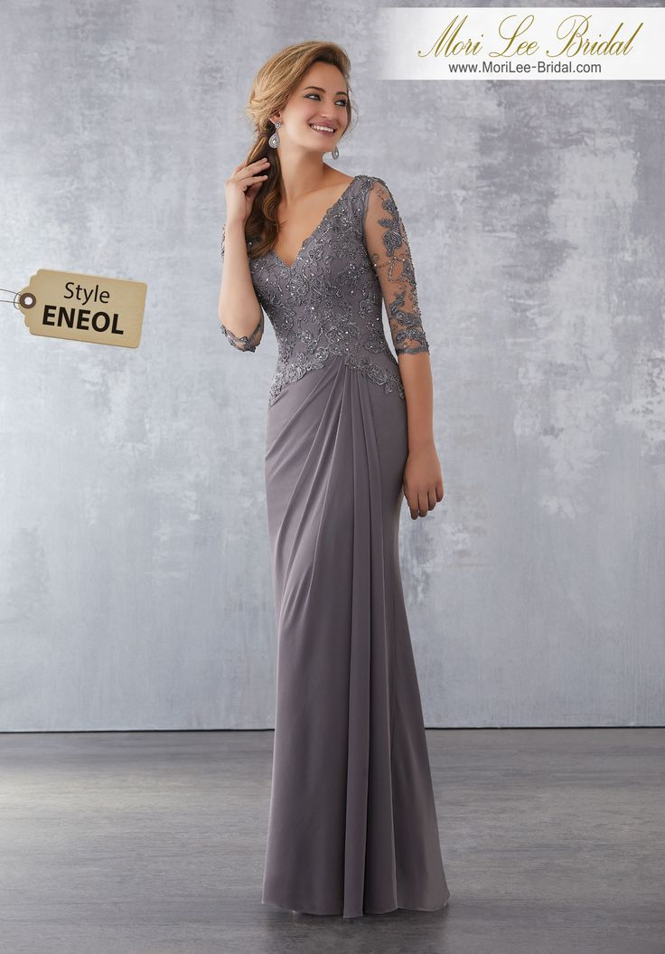 Style ENEOL  Stretch Mesh Social Occasion Dress with Beaded, Embroidered Appliqués  Beaded Embroidered Appliqués on Stretch Mesh. Colors Available: Peacock, Charcoal, Eggplant