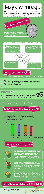 """Moja pierwsza infografika """"Język w mózgu"""""""