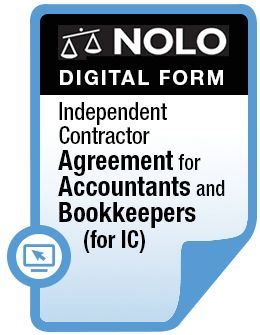 Independent Contractor Agreement for Accountants and Bookkeepers (for ICs)