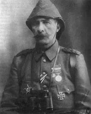 Mehmed Esad Pasha (1862 – 1952), known as Mehmet Esat Bülkat after 1934, was an Ottoman general active during the First Balkan War, where he led the Yanya Corps, and in World War I, where he was the senior Ottoman commander in the Dardanelles Campaign.