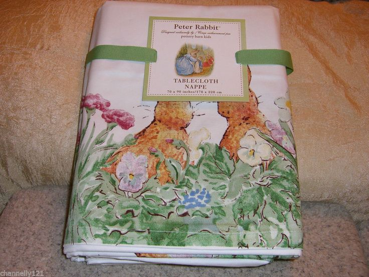 Pottery Barn Kids Peter Rabbit Easter Tablecloth Bnwt