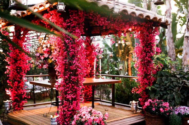 bougainvillea I love the flowers on this structure.  This site has wedding picture ideas, outdoor structure ideas and container garden ideas.  They are all so beautiful!!  I just can't figure out which of my pages to put it on!