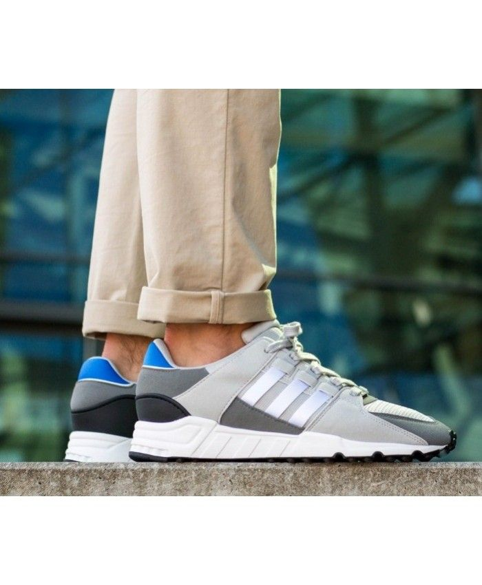 Adidas Equipment Support RF Trainers In Grey Blue White
