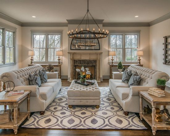 Living Room: Elegant Formal Living Room Themes Two Couches ...