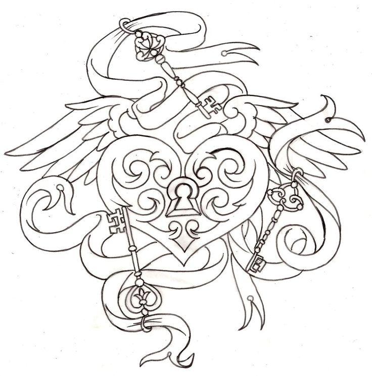 key to my heart locket tattoo 6 by metacharis on deviantart