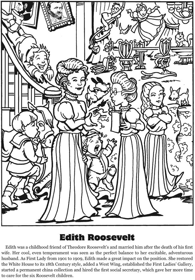 First Lady Coloring Pages | Coloring Pages