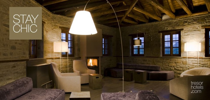 "Trésor Hotels & Resorts_Luxury Boutique Hotels_#Greece_""Could the beauty of a landscape and warm hospitable manners change someone's mood within just seconds?"" The answer is ""yes"" and this is precisely what will happen to you in Kipi Suites guest house in the area of #Zagori in #Epirus."